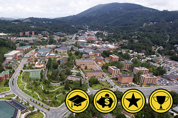 Appalachian named among nation's top colleges and universities by 4 recognized national publications