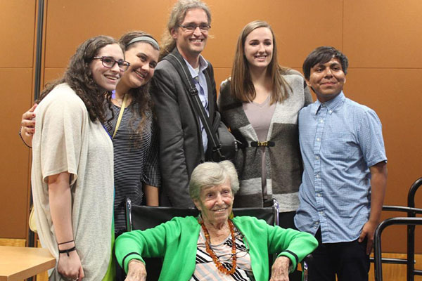 Minute to minute: Holocaust survivor shares experiences with App State crowd
