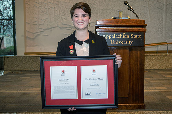 Appalachian student receives American Red Cross' highest award