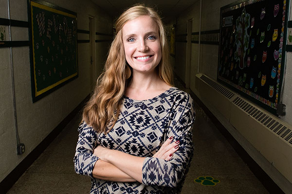Now a teacher, Ashley Carlton '12 pays forward the care she was shown at Appalachian
