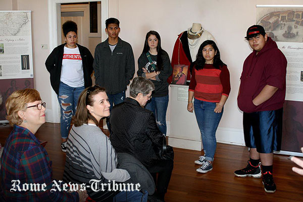 Cherokee students learn about their roots during visit to Chieftains