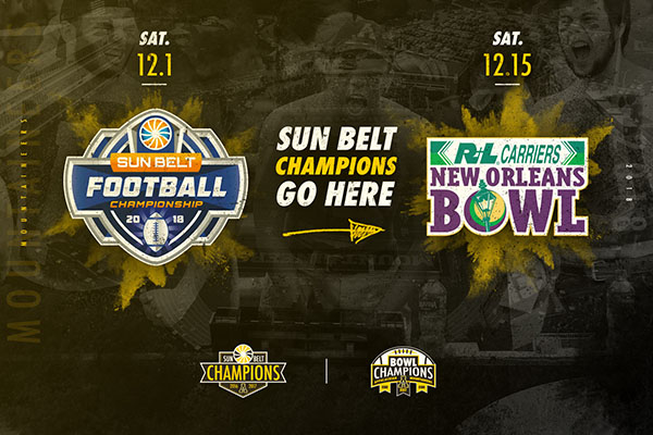 Sun Belt Football Champion Headed to New Orleans Bowl