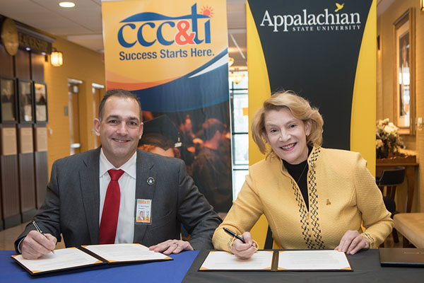 CCC&TI, Appalachian announce Aspire Appalachian Co-Admission Program agreement