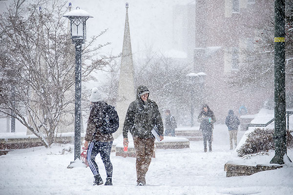 In bad weather, how does App State decide what to do?