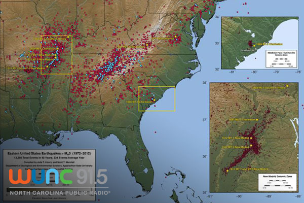 Small Earthquakes Common In Eastern US