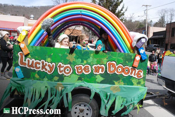 With 60 Floats and Over 4,000 Spectators, Boone's St. Patrick's Parade a Huge Success on Saturday