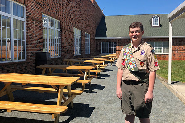 Aspiring Eagle Scout enhances Academy at Middle Fork grounds