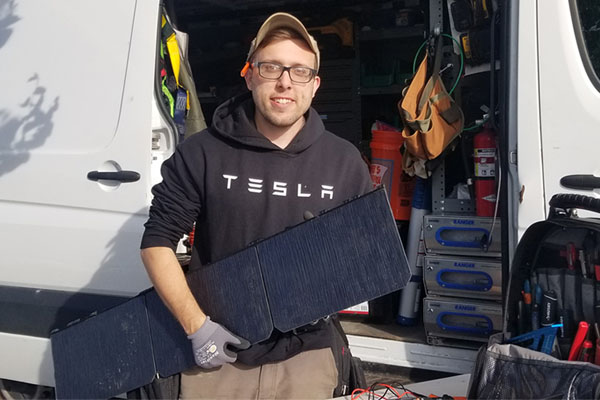 App State alumnus works for Tesla at the 'forefront of the renewable industry'