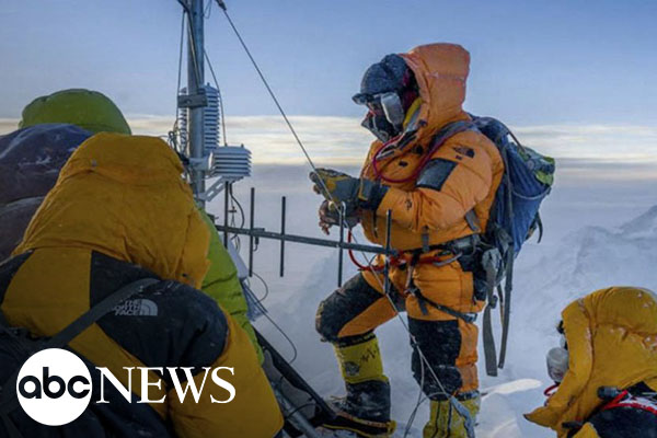 Forecasting extreme weather atop the highest mountain in the world