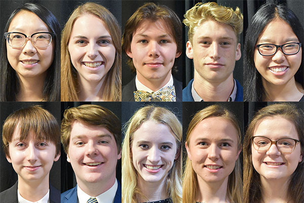 10 first-year students receive Chancellor's Scholarship at App State