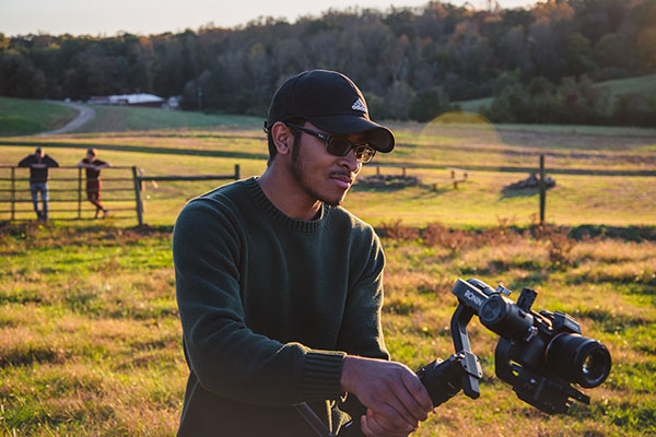 And . . . action! Video director gained professional work experience as a student at Appalachian