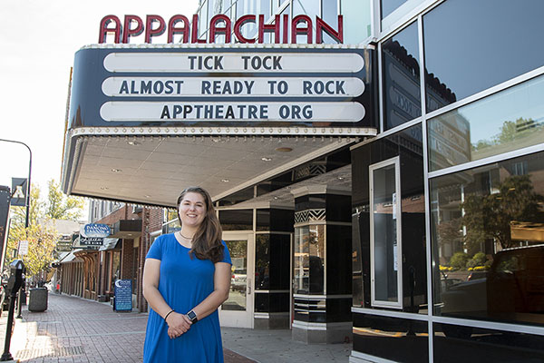App State alumna's internship at Appalachian Theatre sets the stage for her career