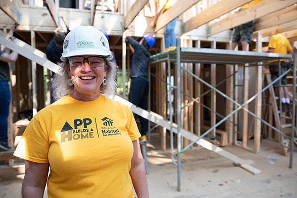 Mountaineer alumna picks up her hammer to help with App Builds a Home