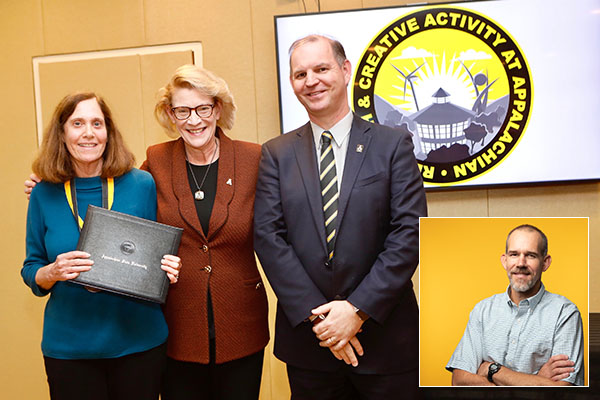 App State presents inaugural awards for excellence in research, scholarship and creative activity