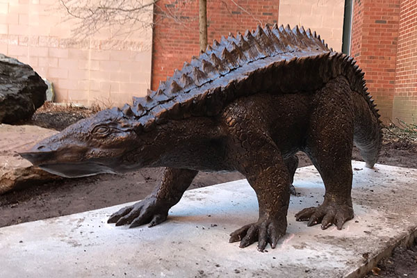 From the Triassic to Appalachian — Archie the aetosaur makes his bronze debut on campus