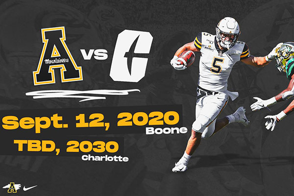 App State Mountaineers take on Charlotte 49ers in bookend matchups set for 2020, 2030