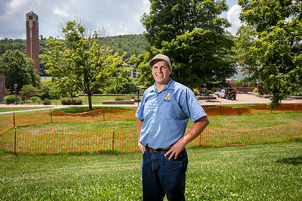 Seeds of change: App State cultivates a lush lawn on Sanford Mall