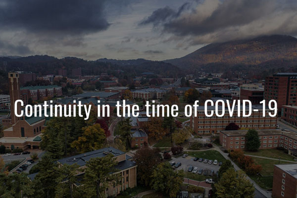 Continuity in the time of COVID-19