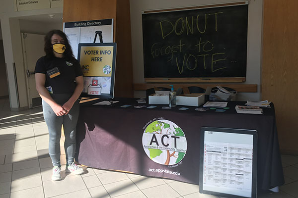 'Doughnut Forget to Vote' — grant funds voter education, mobilization event for App State students