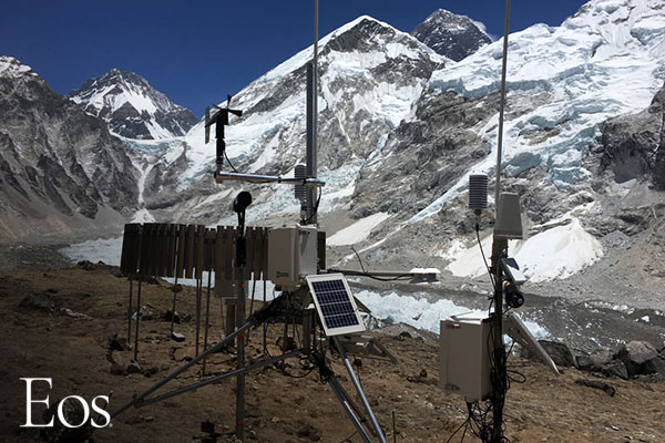 Tracing the Moisture That Nourishes the World's Highest Glacier [faculty featured]