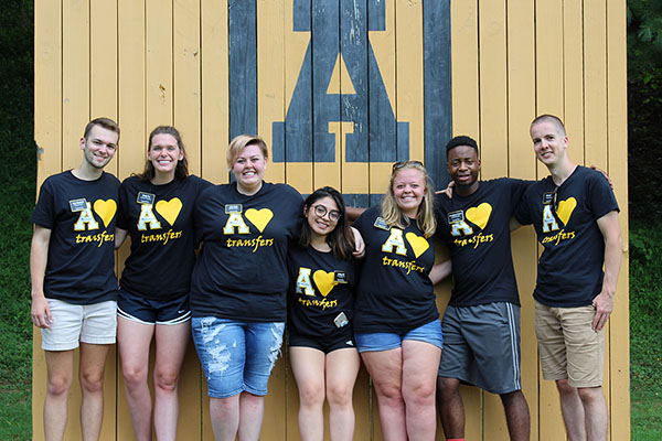 App State champions transfer student success